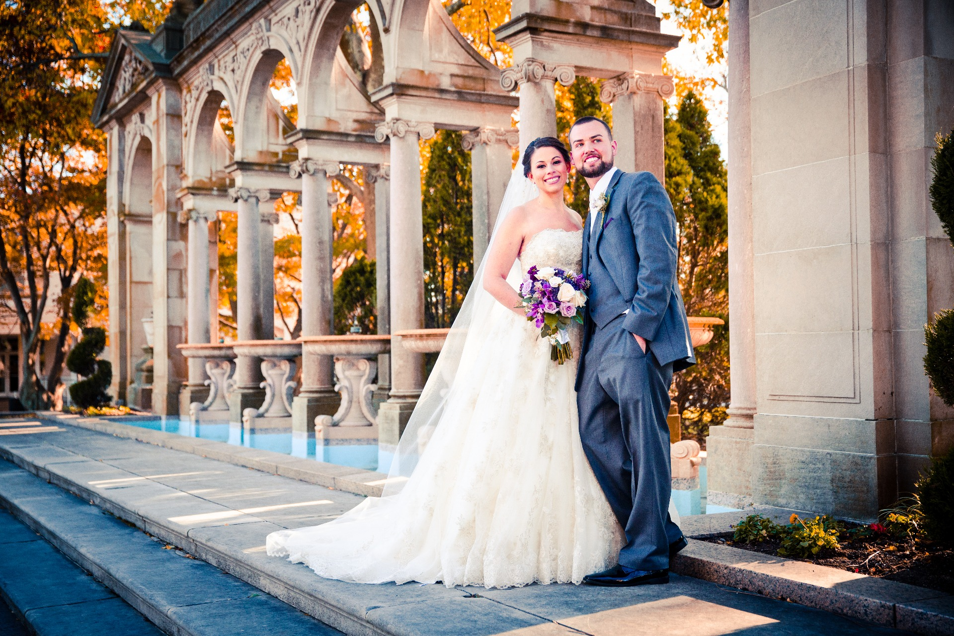 A fall wedding at Branches